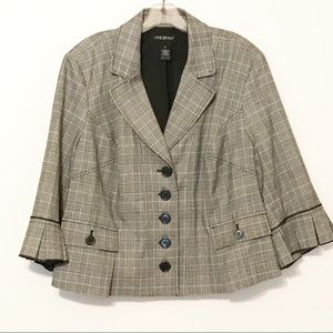 Lane Bryant Size 20 Plaid Blazer Jacket